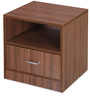 Champion Bedside Table in Walnut Brown by @Home