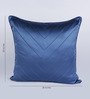 Chandrika Blue Silk 20 x 20 Inch Cushion Cover