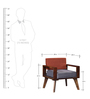 Cheney One Seater Sofa in Provincial Teak Finish by Woodsworth