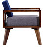 Cheney Single Seater Sofa in Provincial Teak Finish by Woodsworth