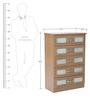 Jiro Chest of Five Drawers in Oak Finish by Mintwud