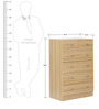 Haruki Chest of Six Drawers in Oak Finish by Mintwud