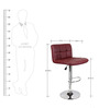 Chex Bar Chair in Maroon Colour by The Furniture Store