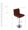 Chex Bar Chair in Brown Colour by The Furniture Store