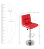 Chex Bar Chair in Red Colour by The Furniture Store