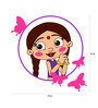 Chipakk Chutki with Butterfly Frame Door Decal