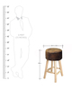Chivaso Hand-Made Bar Stool in Saddle Colour by The Rug Republic