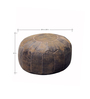 Chivaso Leather Pouffe with Block Patterns by The Rug Republic