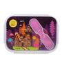 Chumbak Enchanted Dessert Castle Multicolour Silicone & BPA Free Polypropylene 600 ML Lunch Box