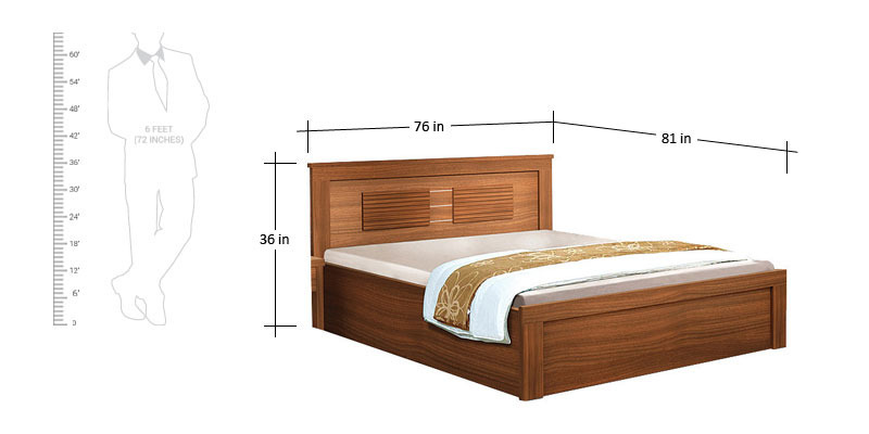 Spacewood King Size Bed