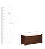Elkhorn Shoe Rack with Seating in Provincial Teak Finish by Woodsworth