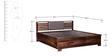 Clancy Hydraulic King Bed with Hydraulic Storage in Provincial Teak Finish by Woodsworth