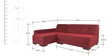 Clarence RHS Sofa in Maroon Color by Furny