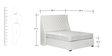 Classic Upholstered Platform Queen Bed in White Color by Afydecor