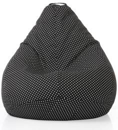 Classic Cotton Canvas Polka Dots Design Bean Bag XXL Size With Beans By Style Homez - 1508888