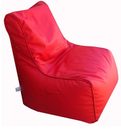 Classic Style Filled Lounger In Red Colour By Orka