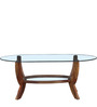 Hudson Coffee Table in Provincial Teak Finish by Amberville