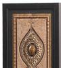 Clasicraft Black Beads on Raw Silk 7.5 x 0.5 x 25.5 Inch Framed Panel Wall Art