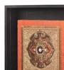 Clasicraft Brown Beads on Raw Silk 10.8 x 1 x 10.8 Inch Motif Framed Wall Art