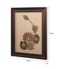 Clasicraft Brown Beads on Raw Silk 15.3 x 1 x 19.3 Inch Lotus Framed Wall Art