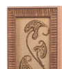 Clasicraft Brown Beads on Raw Silk 5.8 x 0.8 x 15.3 Inch Modern Paisley Framed Wall Art