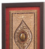 Clasicraft Brown Beads on Raw Silk 7.5 x 0.5 x 25.5 Inch Framed Panel Wall Art