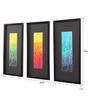 Clasicraft Multicolour Canvas 27 x 1 x 19 Inch Abstract Framed Wall Art Painting - Set of 3