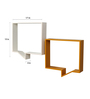 Clasicraft White & Yellow MDF & Teak Wood Comma Wall Shelf - Set of 2
