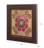 Clasicraft Pink Beads on Canvas Board 11 x 0.5 x 11 Inch Flower Framed Wall Art
