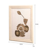 Clasicraft White Beads on Raw Silk 15.3 x 1 x 19.3 Inch Lotus Framed Wall Art