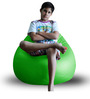Classic Bean Bag (Cover Only) XL size in Green Colour  by Style Homez