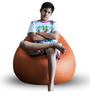 Classic Bean Bag (Cover Only) XL size in Tan Colour  by Style Homez