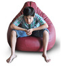 Classic Bean Bag (Cover Only) XXL size in Maroon Colour  by Style Homez