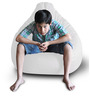 Classic Bean Bag (Cover Only) XXL size in White Colour  by Style Homez