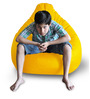 Classic Bean Bag (Cover Only) XXL size in Yellow Colour  by Style Homez