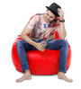 Classic Bean Bag (Cover Only) XXXL size in Red Colour  by Style Homez