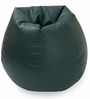 Classic Bean Bag Cover without Beans in Dark Green Colour by Sattva