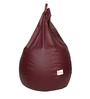 Classic Bean Bag Cover without Beans in Maroon Colour by Sattva