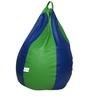Classic Bean Bag Cover without Beans in Royal Blue and Neon Green Colour by Sattva