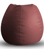 Classic Bean Bag XL size in Maroon Colour with Beans by Style Homez