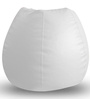 Classic Bean Bag XL size in White Colour with Beans by Style Homez