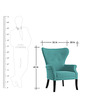 Classic Chair with Button Tufted Back & Sabre Legs in Blue Colour by AfyDecor