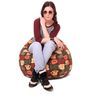 Classic Cotton Canvas Abstract Design Bean Bag XL Size Cover Only by Style Homez
