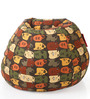 Classic Cotton Canvas Abstract Design Bean Bag XXL Size Cover Only by Style Homez