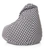 Classic Cotton Canvas Checkered Printed Bean Bag XL Size Cover Only by Style Homez