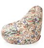 Classic Cotton Canvas Floral Design Bean Bag XXL Size Cover Only by Style Homez