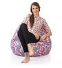 Classic Cotton Canvas Geometric Design Bean Bag XXL Size Cover Only by Style Homez