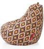 Classic Cotton Canvas Geometric Design Bean Bag XXL Size with Beans by Style Homez