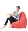 Classic Cotton Canvas Star Design Bean Bag XXL Size Cover Only by Style Homez