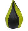 Classic Style Bean Bag Cover in Green Black Colour by Orka